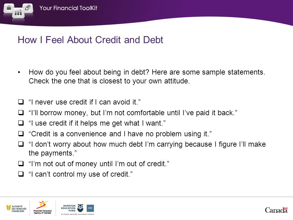 How I Feel About Credit and Debt
