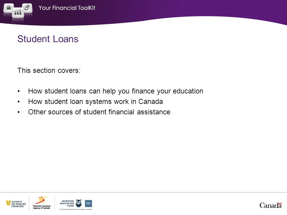 Student Loans This section covers: