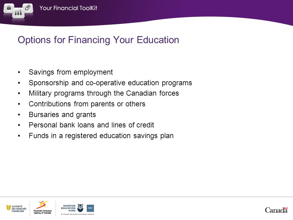 Options for Financing Your Education