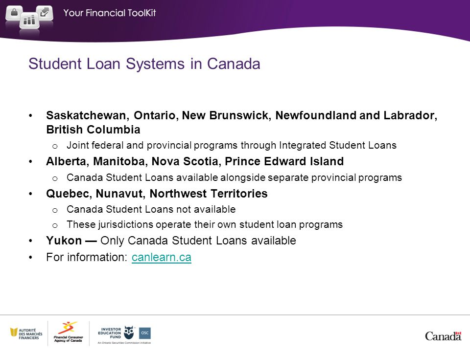 Student Loan Systems in Canada