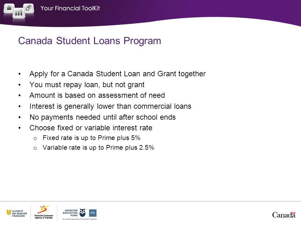 Canada Student Loans Program