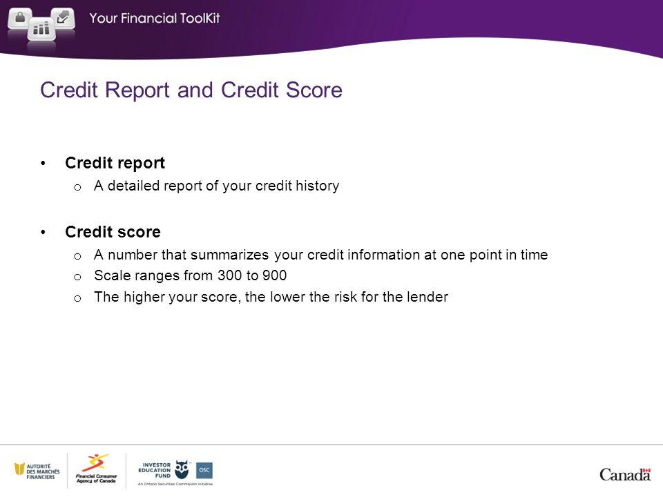 Credit Report and Credit Score