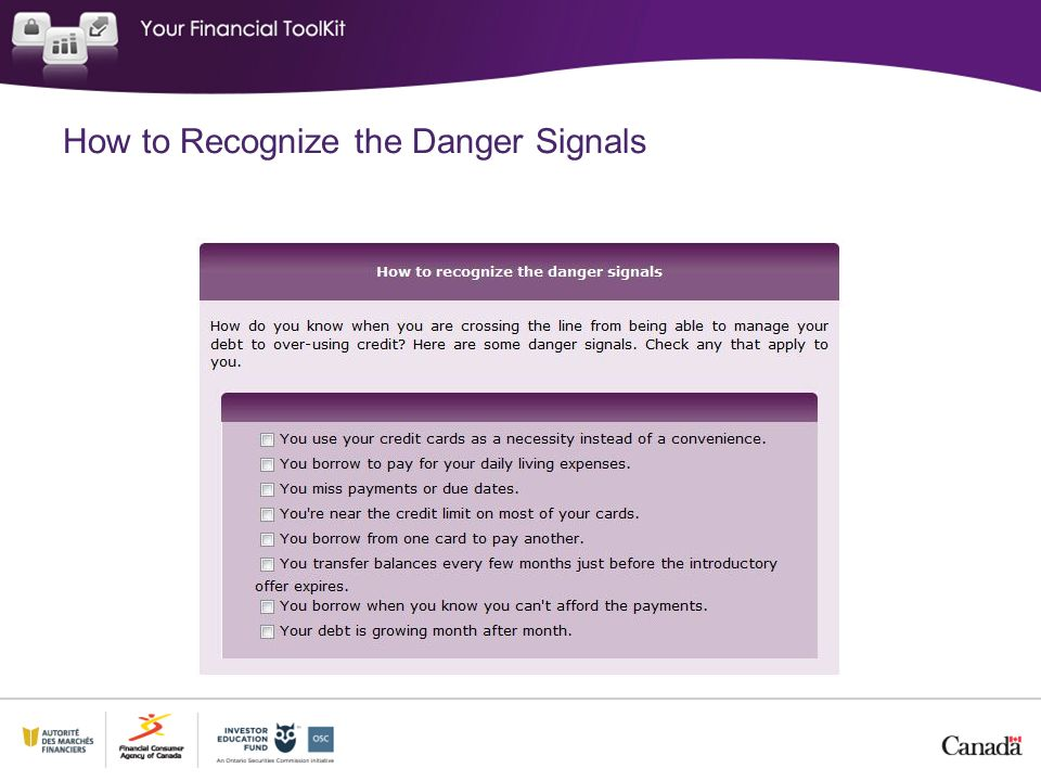How to Recognize the Danger Signals
