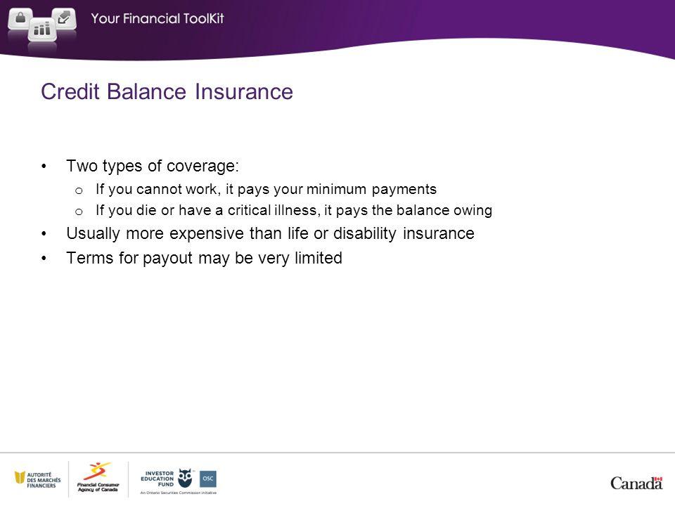 Credit Balance Insurance