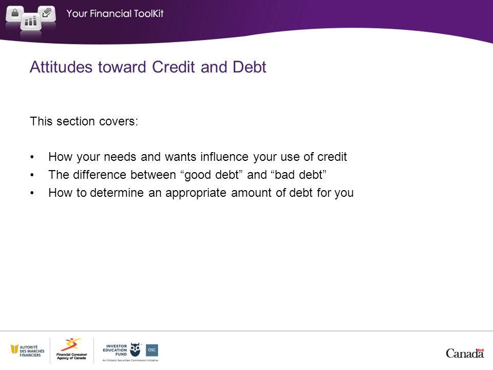Attitudes toward Credit and Debt