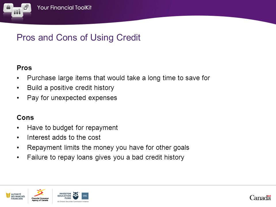 Pros and Cons of Using Credit