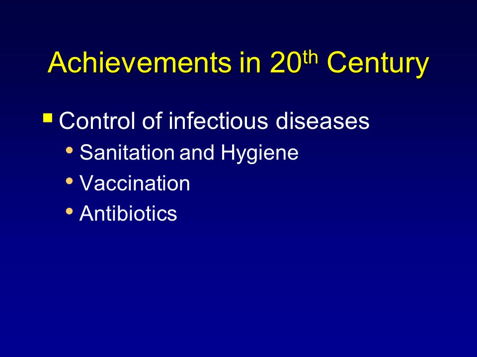 Achievements in 20th Century