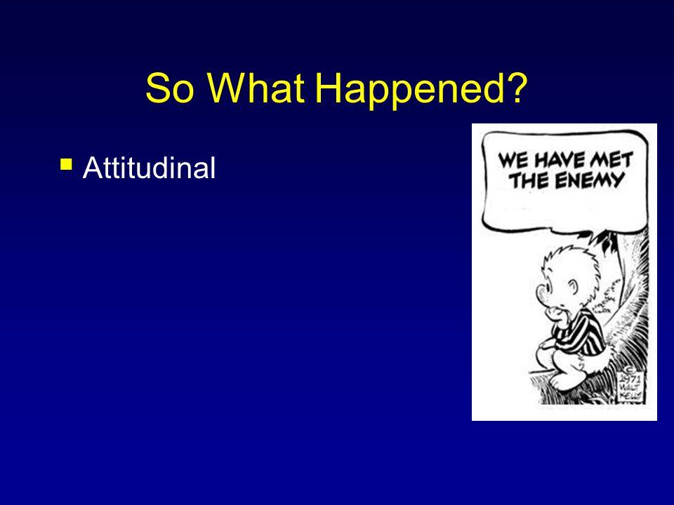 So What Happened Attitudinal