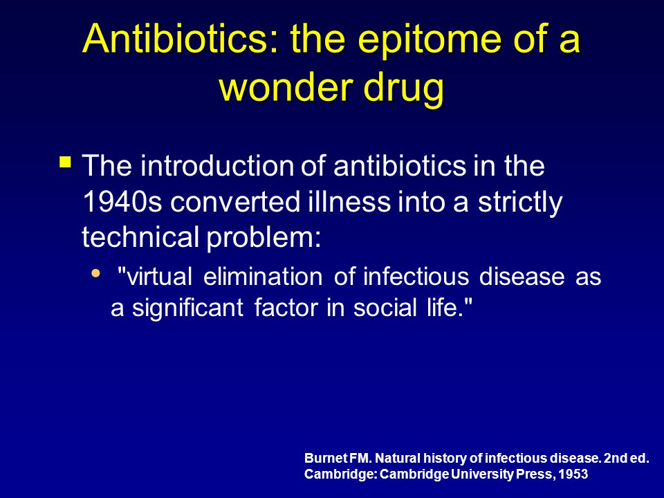 Antibiotics: the epitome of a wonder drug