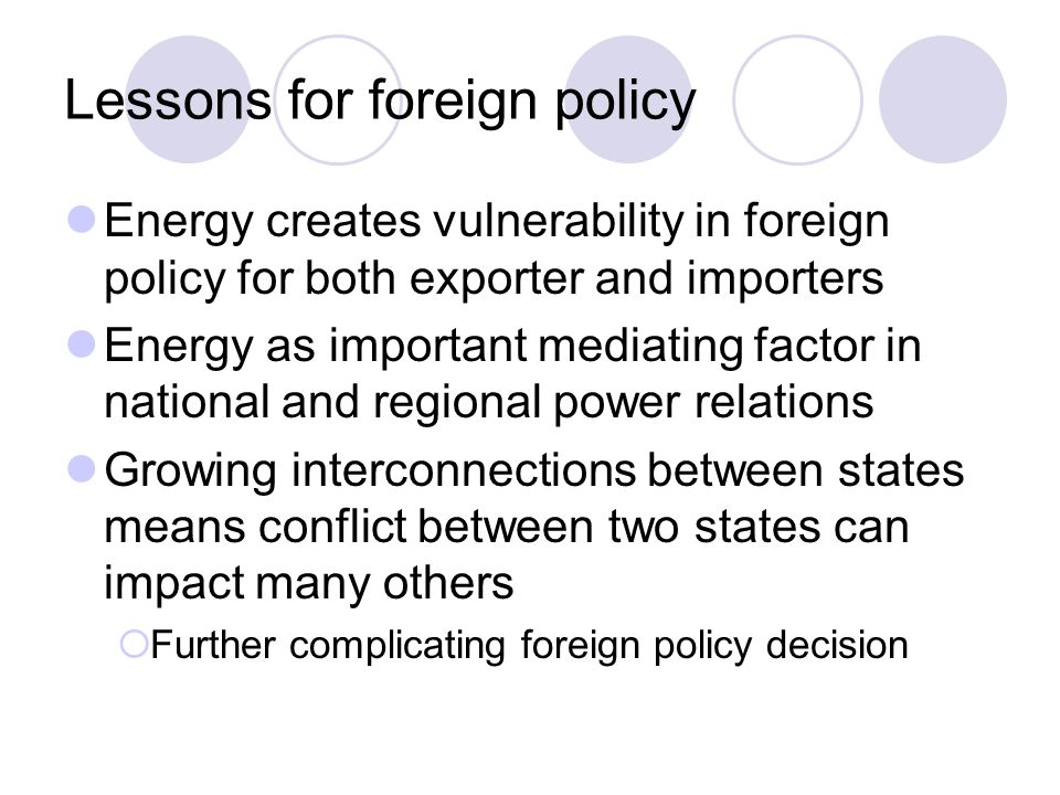 Lessons for foreign policy