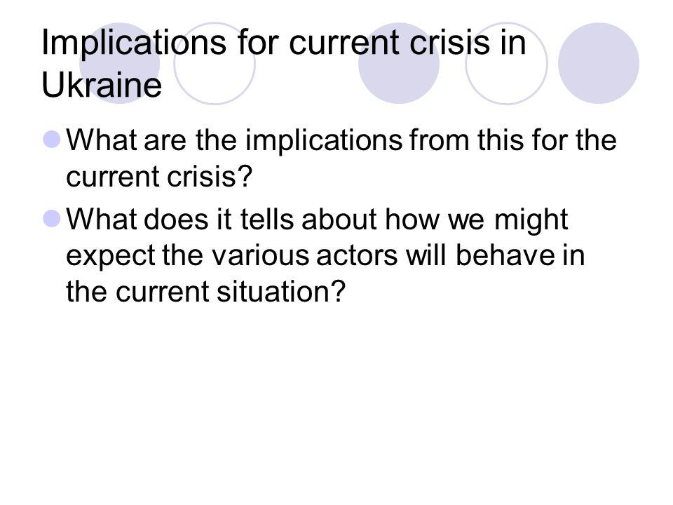 Implications for current crisis in Ukraine
