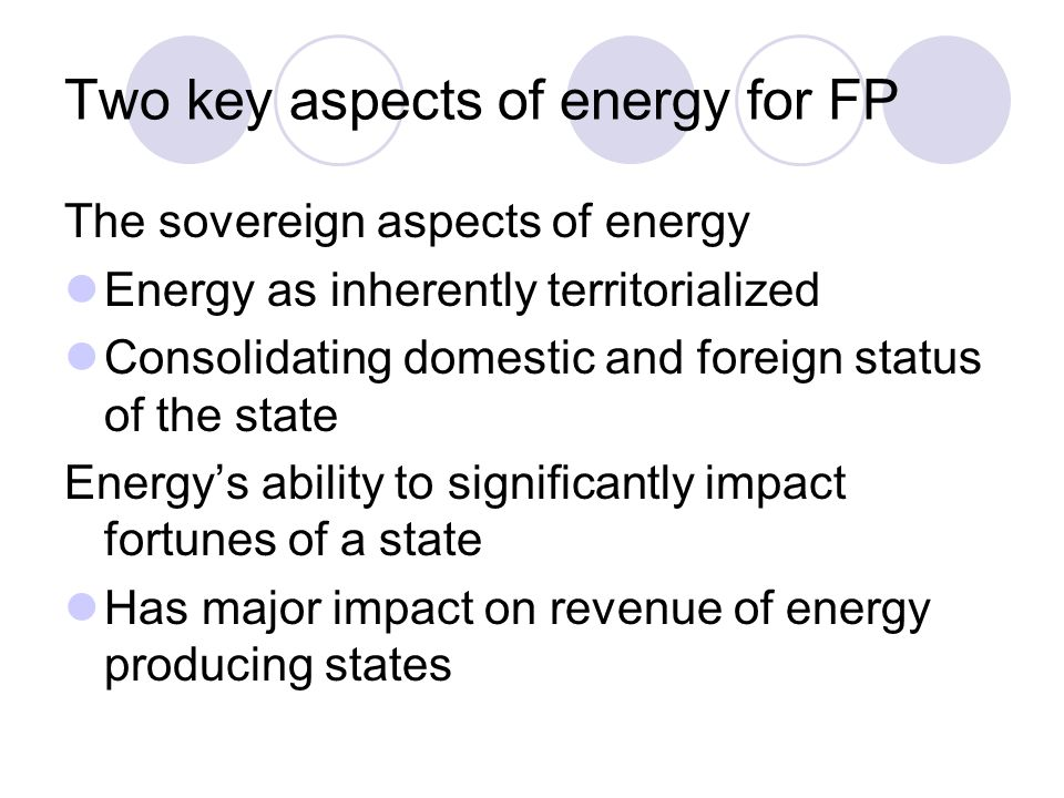Two key aspects of energy for FP