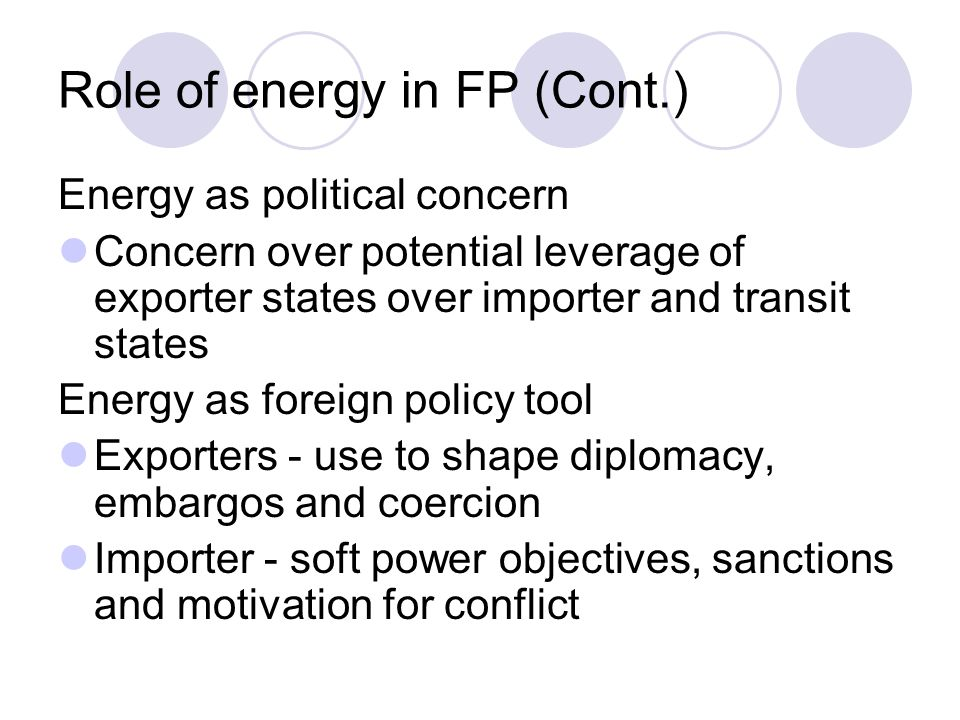 Role of energy in FP (Cont.)