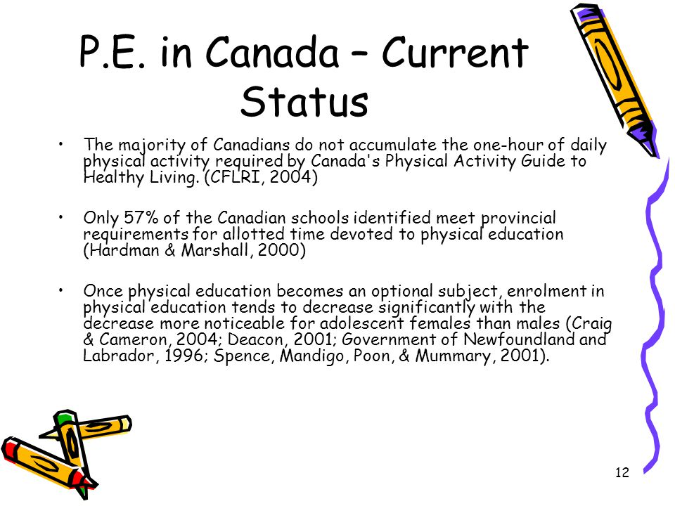 P.E. in Canada – Current Status