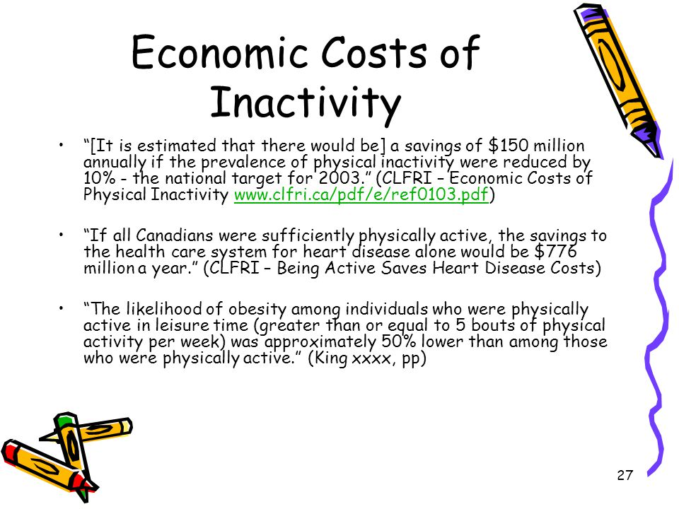 Economic Costs of Inactivity