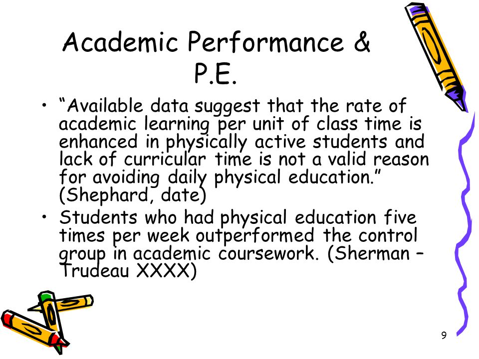 Academic Performance & P.E.