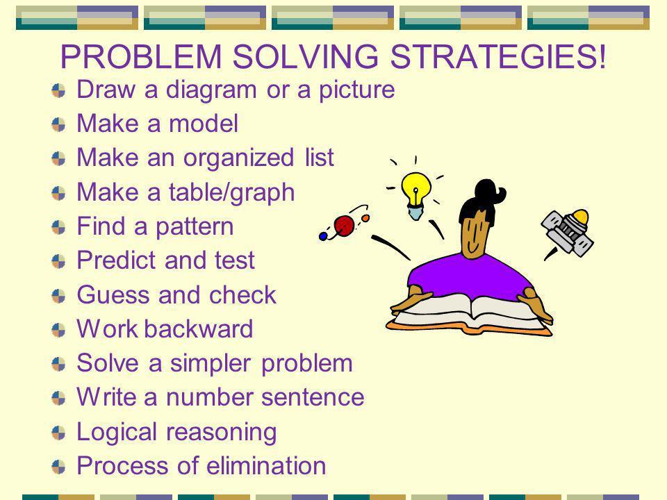 PROBLEM SOLVING STRATEGIES!