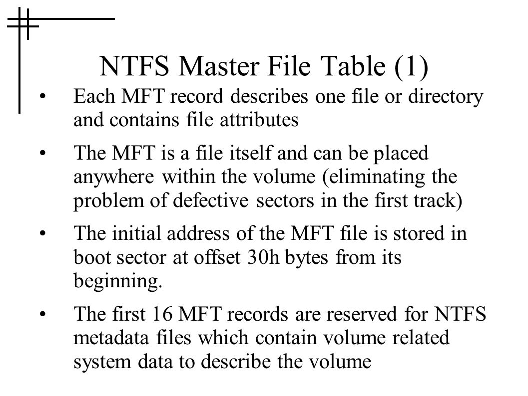 NTFS Master File Table (1)