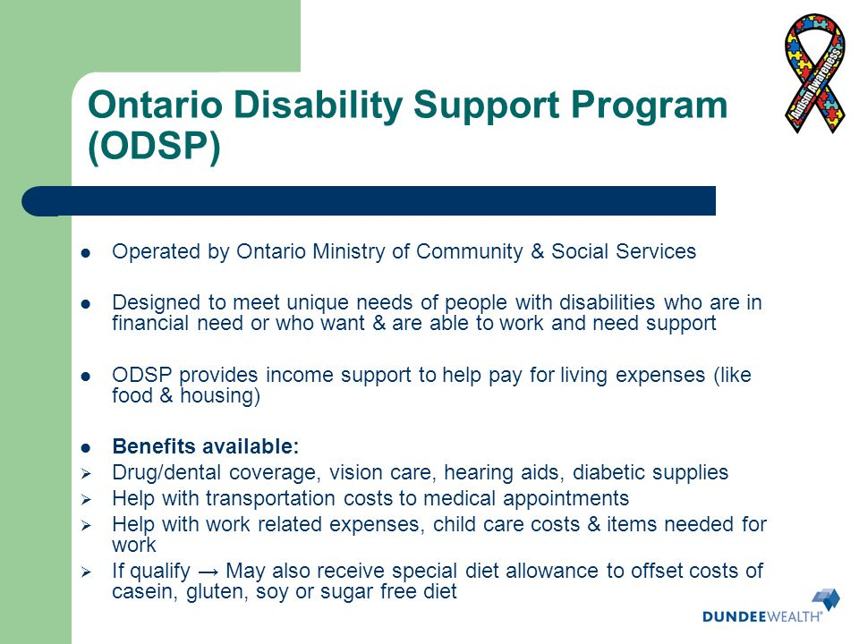 Ontario Disability Support Program (ODSP)