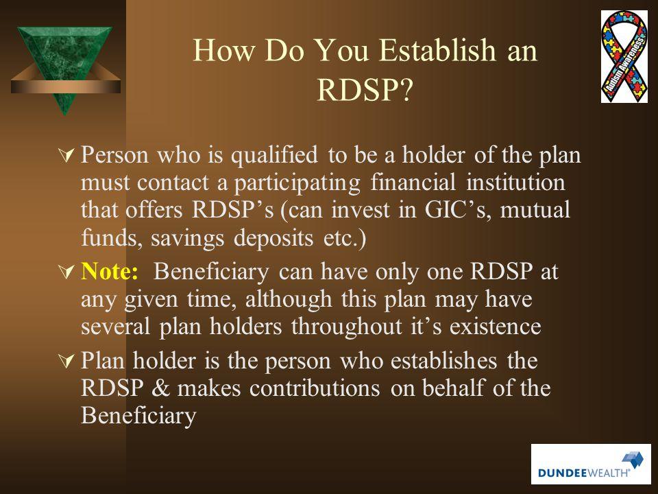 How Do You Establish an RDSP