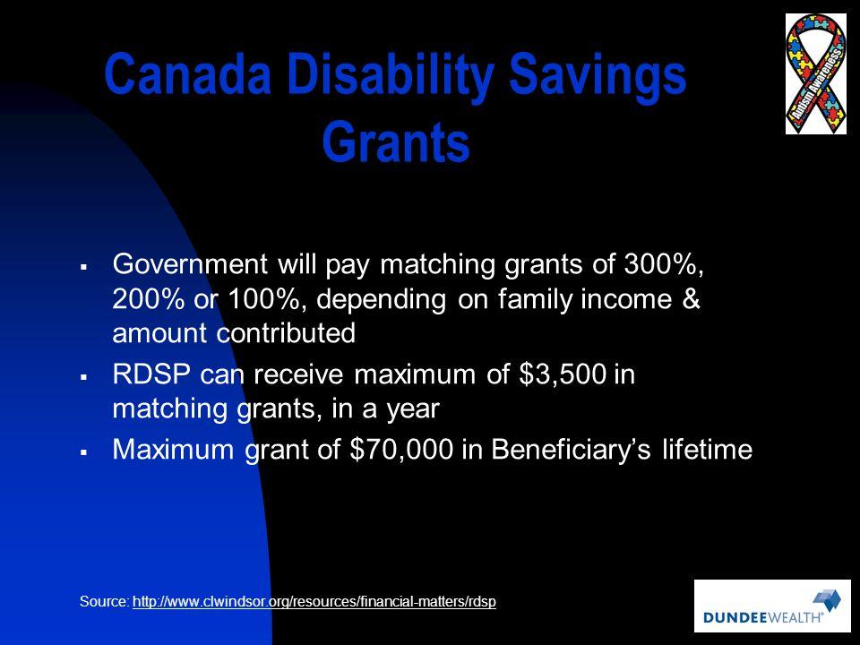 Canada Disability Savings Grants