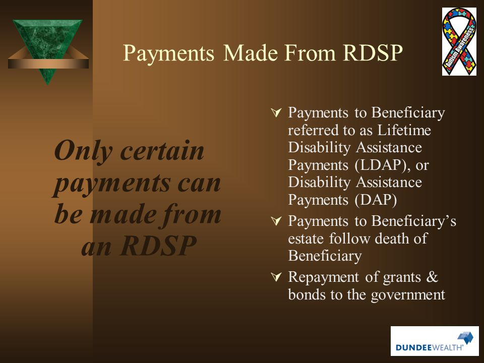 Payments Made From RDSP