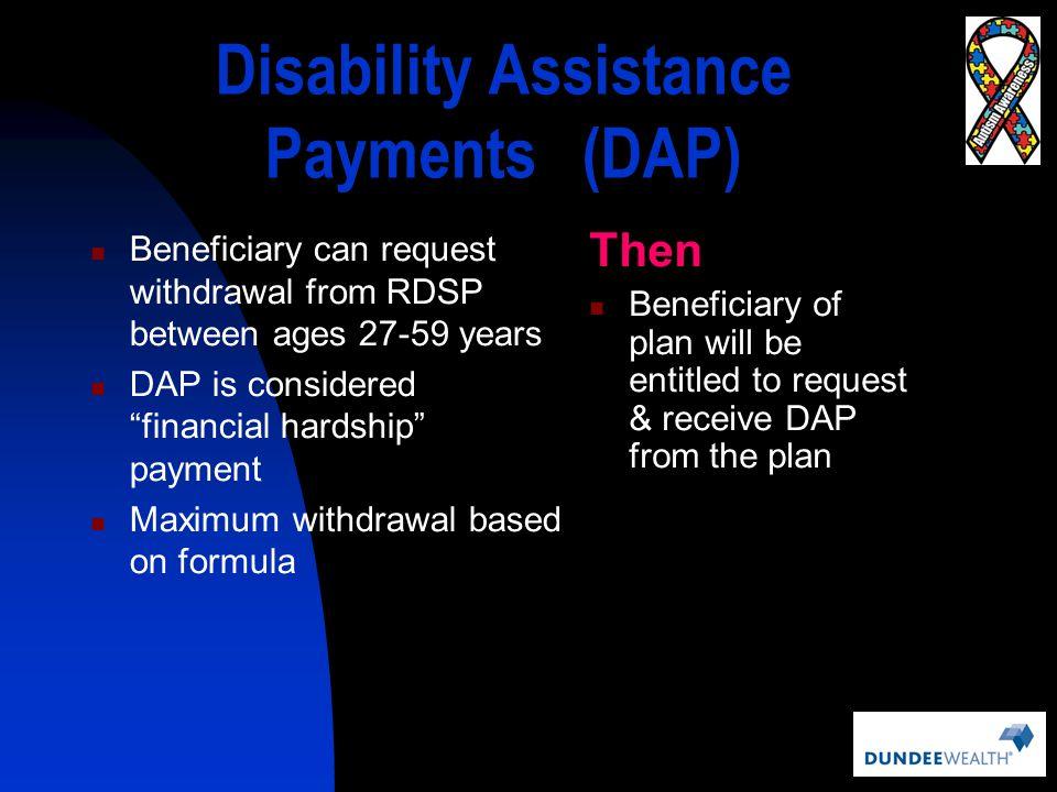 Disability Assistance Payments (DAP)