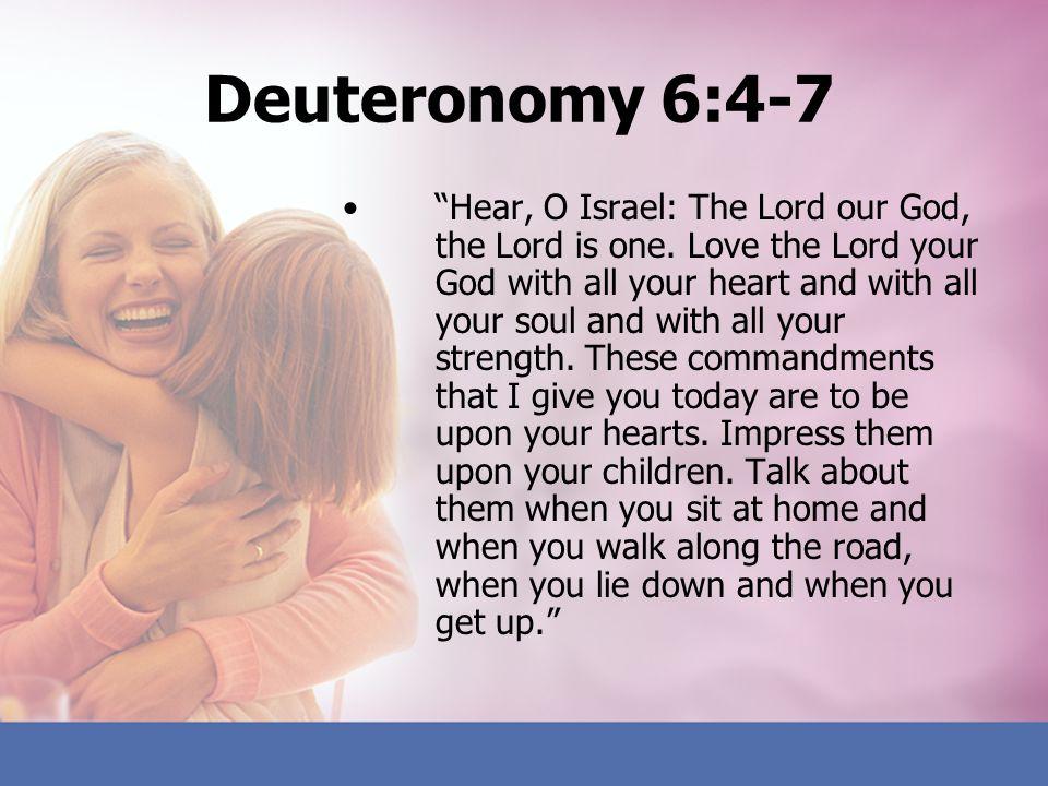 Deuteronomy 6:4-7