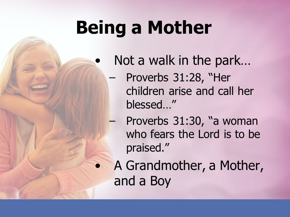 Being a Mother Not a walk in the park…