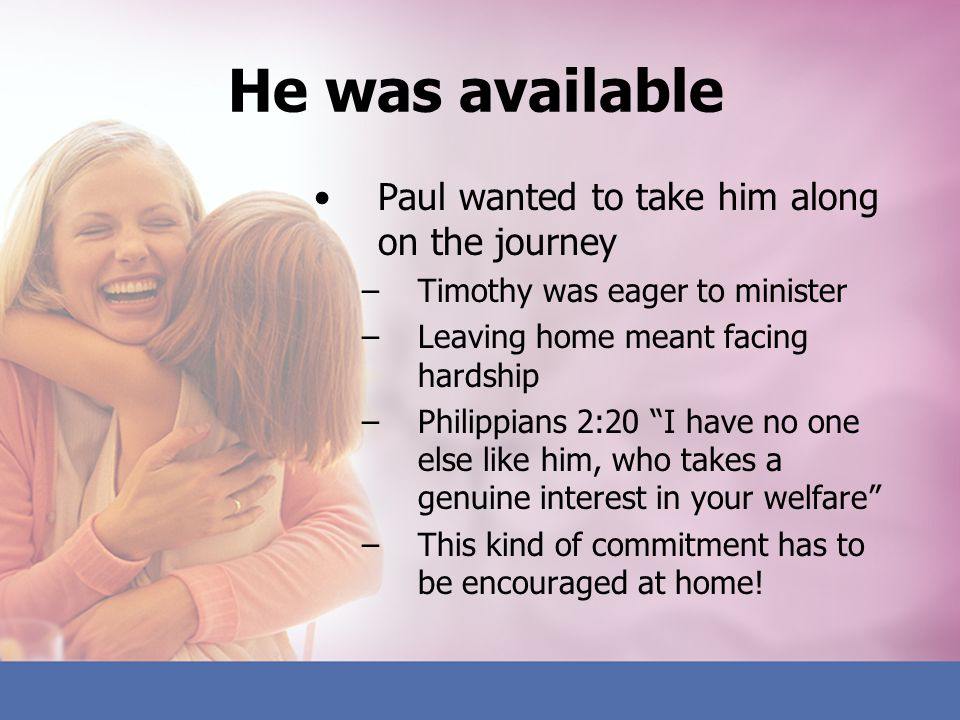 He was available Paul wanted to take him along on the journey