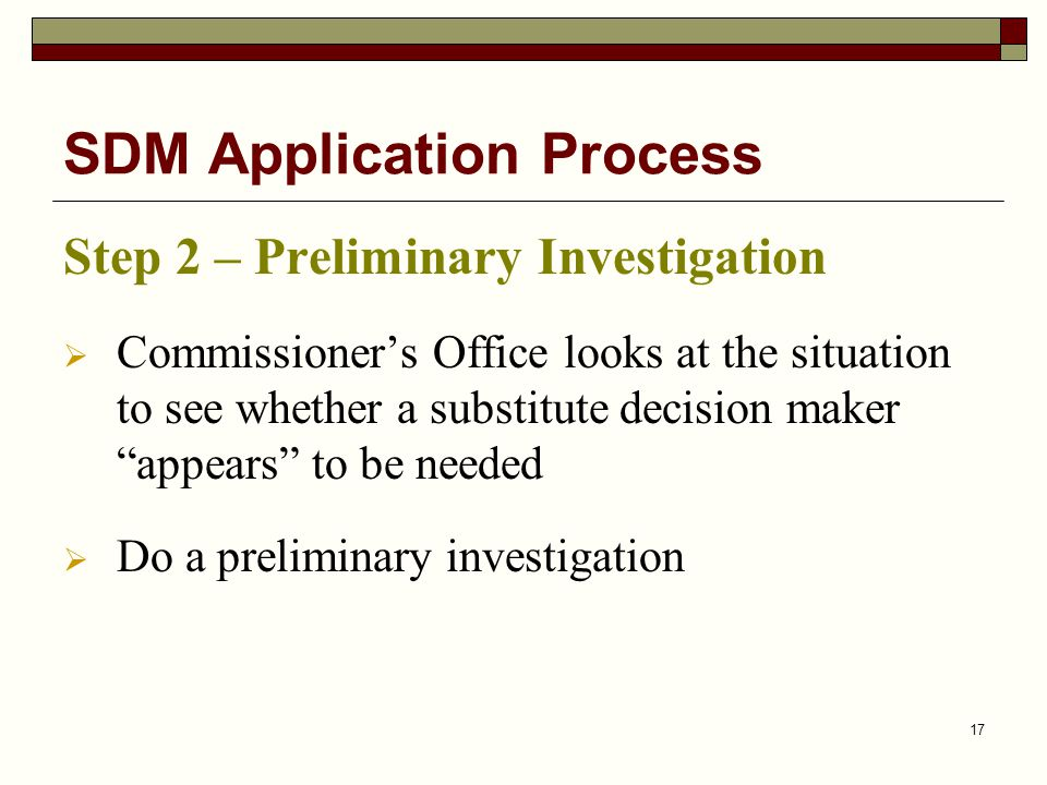 SDM Application Process