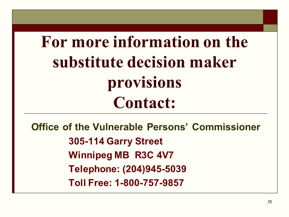 Office of the Vulnerable Persons' Commissioner