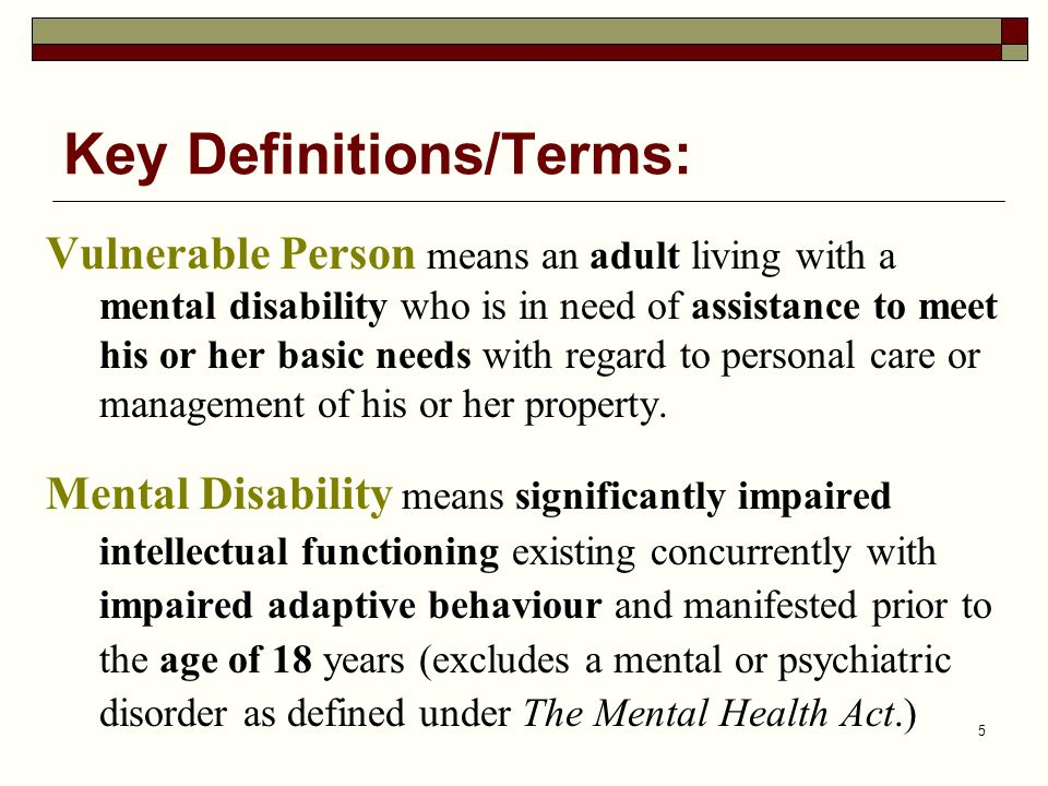 Key Definitions/Terms: