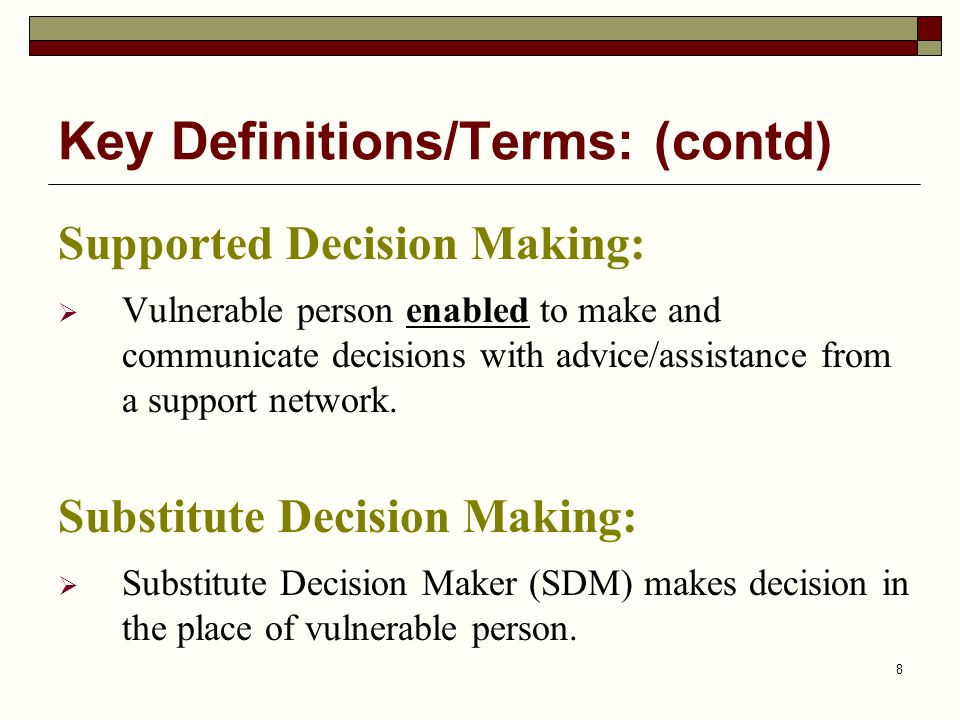 Key Definitions/Terms: (contd)