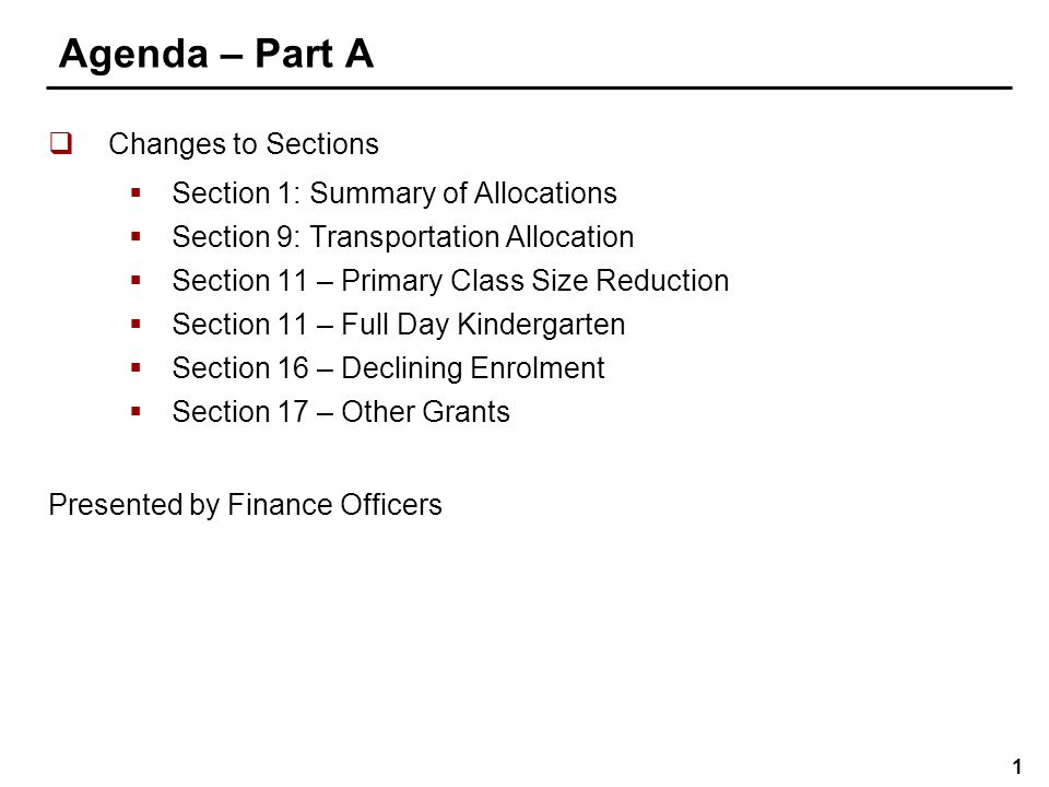Agenda – Part B Overview of accounting changes