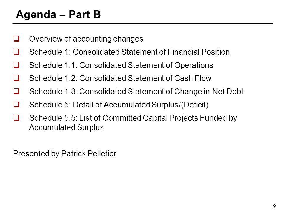 Agenda – Part C Schedule 5.4: Proceeds of Disposition Calculations