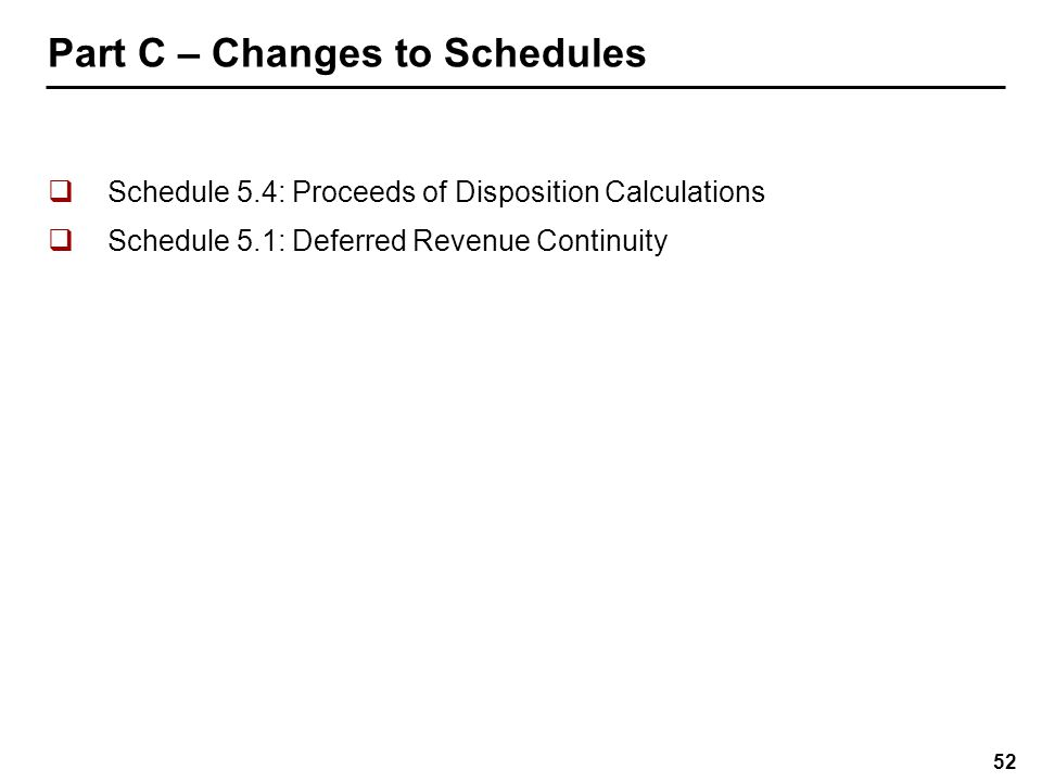 Schedule 5.4: Proceeds of Disposition Calculations