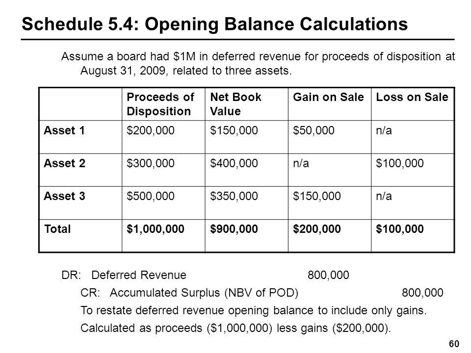 Schedule 5.4: EFIS Entries