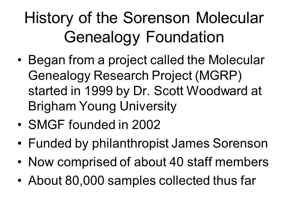 History of the Sorenson Molecular Genealogy Foundation