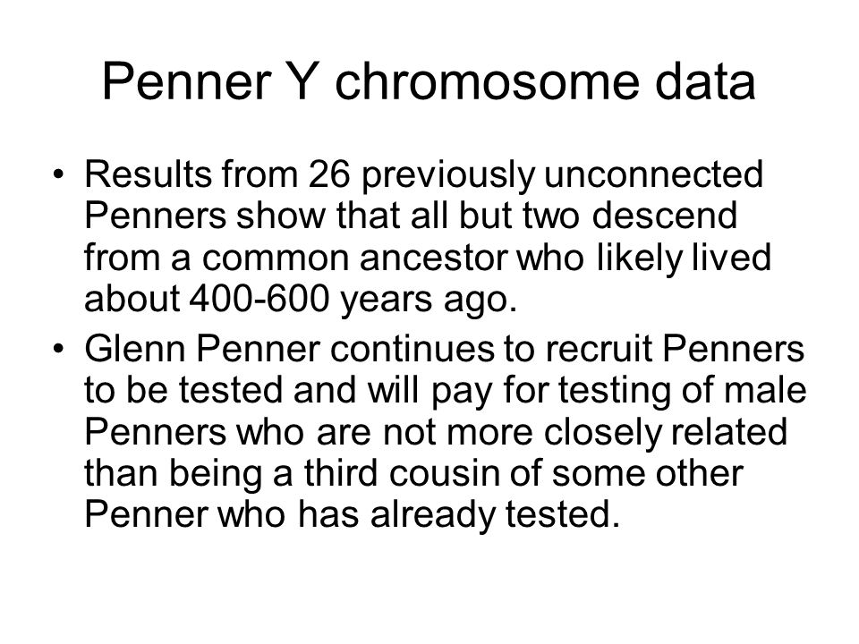 Penner Y chromosome data