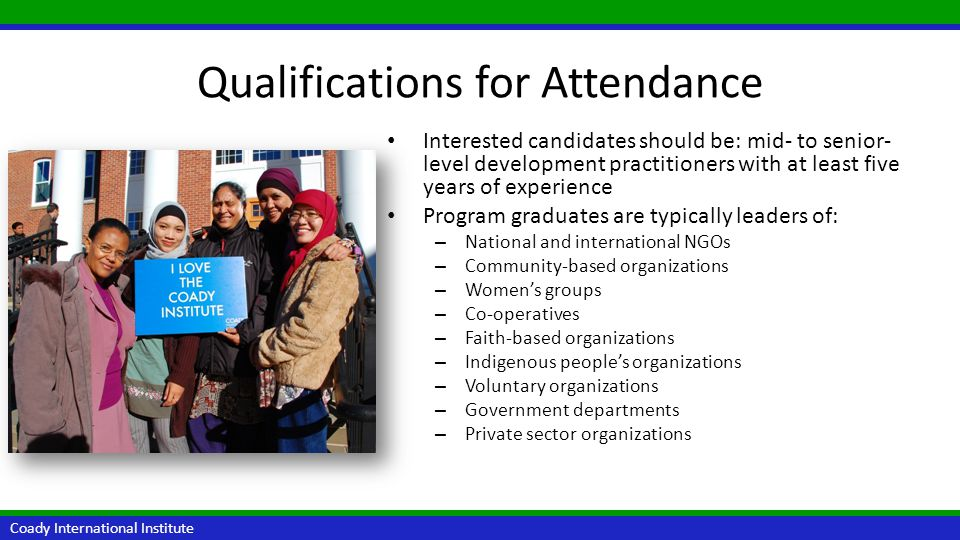 Qualifications for Attendance