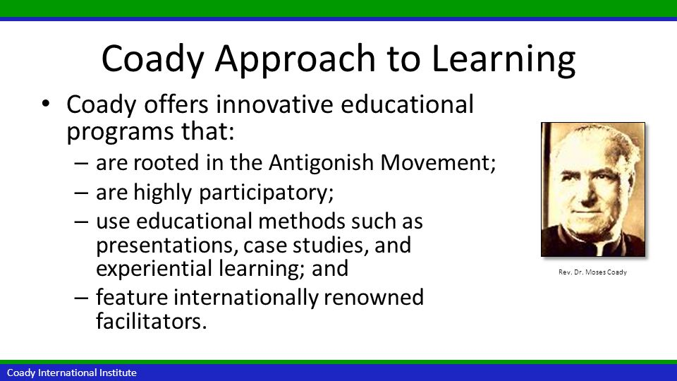 Coady Approach to Learning