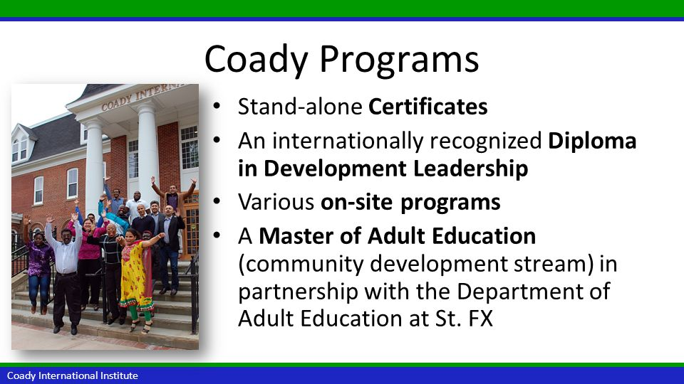 Coady Programs Stand-alone Certificates