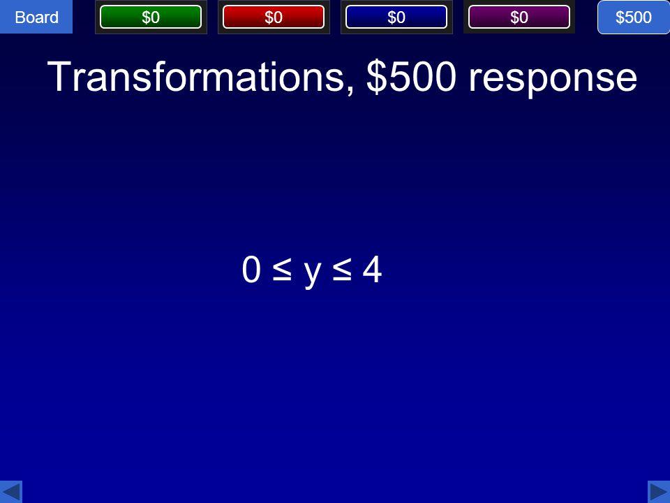 Transformations, $500 response