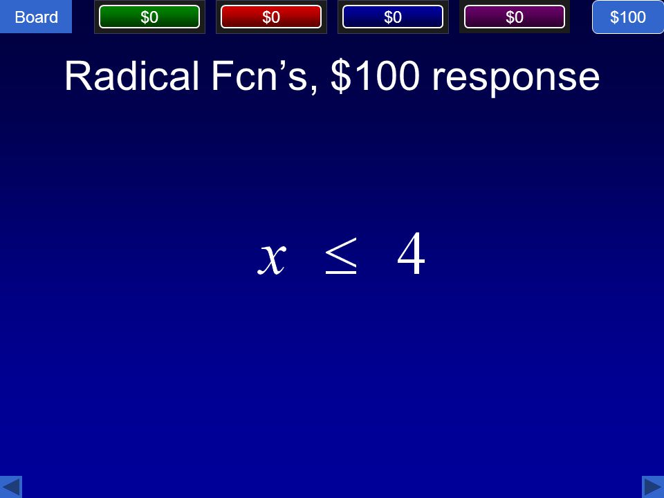 Radical Fcn's, $100 response