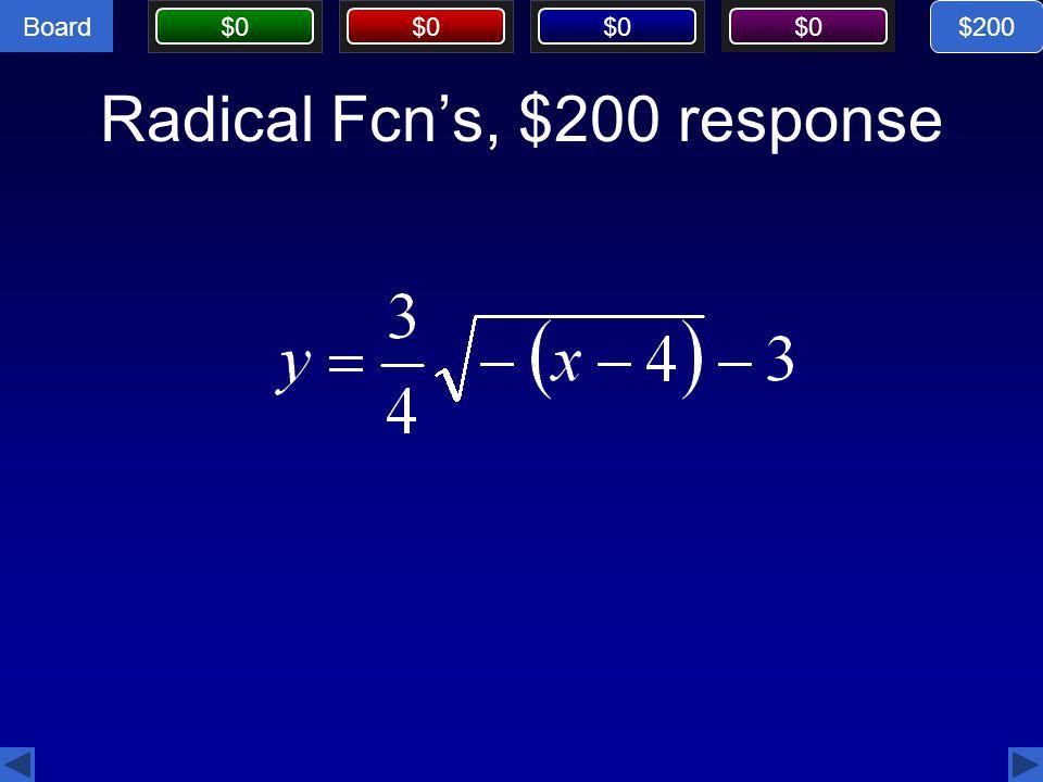 Radical Fcn's, $200 response