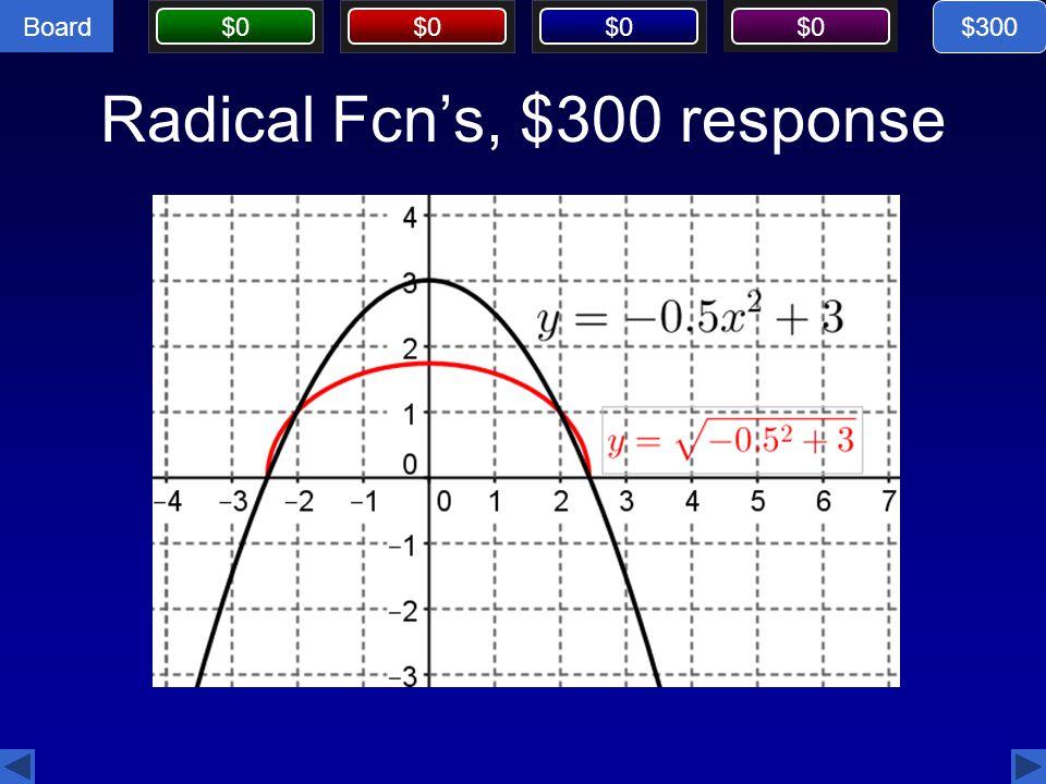 Radical Fcn's, $300 response