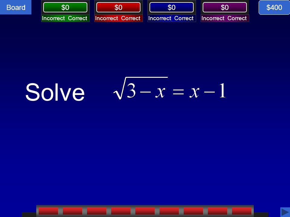 $400 Solve