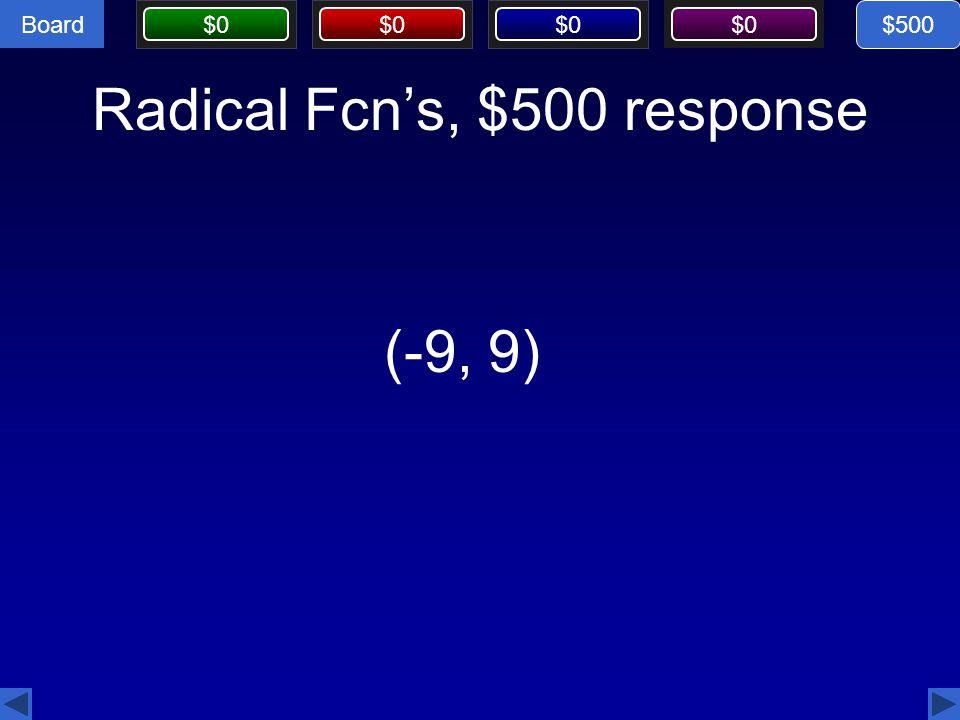 Radical Fcn's, $500 response