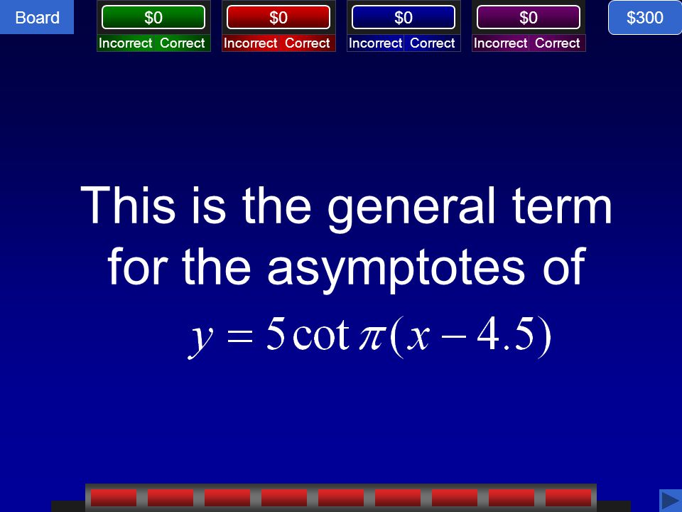 This is the general term for the asymptotes of